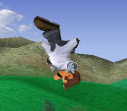 Ataque aéreo hacia arriba de Dr. Mario SSBM