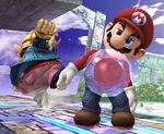 Bomba Gooey adherida a Mario SSBB