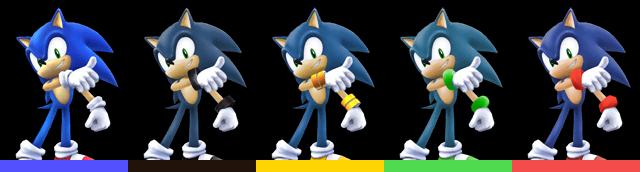 Paleta de colores Sonic (SSBB)