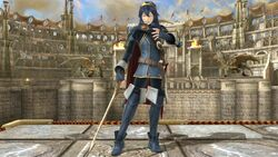 Pose de espera 1 Lucina SSB4 (Wii U)