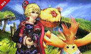 Shulk y Riki en la Llanura de Gaur SSB4 (Wii U)
