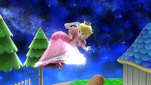 Ataque aéreo hacia atrás Peach SSB4 Wii U