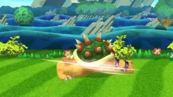Ataque fuerte hacia abajo de Bowser (1) SSB4 (Wii U)