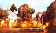 Bowser y Donkey Kong siendo afectados por el ataque de Koume SSB4 (3DS)