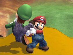 Lanzamiento hacia abajo (1) Mario SSBB