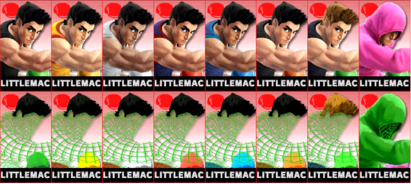 Paleta de colores de Little Mac SSB4 (3DS)