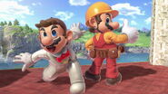 Trajes alternativos de Mario en el Castillo de Peach SSBU