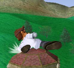 Ataque fuerte hacia abajo de Dr. Mario SSBM
