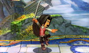 Burla inferior Espadachín Mii SSB4 (3DS)