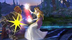 Golpiza Zelda SSB4 Wii U