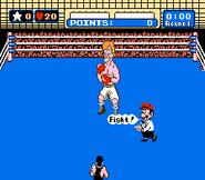 Little Mac Luchando contra Glass Joe