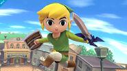 Toon Link mirando directamente a la pantalla SSB4 (Wii U)