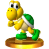 Trofeo de Koopa Troopa (verde) SSB4 (3DS)