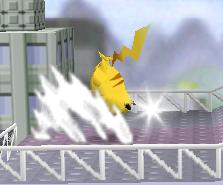 Ataque Smash hacia arriba de Pikachu SSB