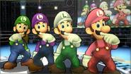 Créditos Modo Leyendas de la lucha Luigi SSB4 (3DS)