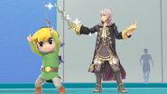 Daraen y Toon Link en la Sala de Wii Fit SSBU