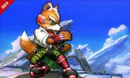 Fox en el Campo de batalla SSB4 (3DS)