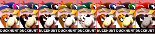 Paleta de colores de Duck Hunt (JAP) SSB4 (3DS)