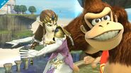 Zelda en Altárea junto a Donkey Kong SSB4 (Wii U)