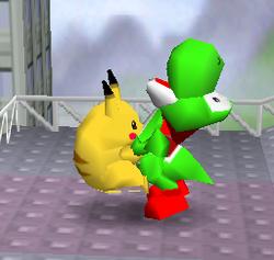 Agarre de Pikachu SSB
