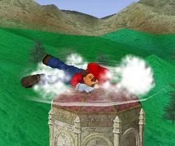 Ataque Smash hacia abajo de Mario (2) SSBM