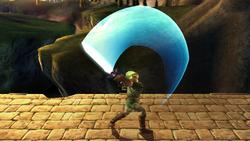 Ataque Smash hacia arriba Link SSBB (2)