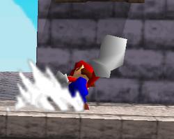 Ataque smash lateral de Mario SSB