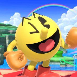 Pac-Man posando en <a href=