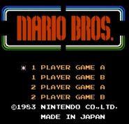 Pantalla de titulo de Mario Bros. (NES)