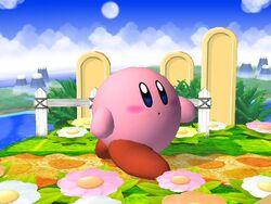 Pose de espera Kirby SSBB (2)