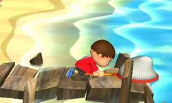 Agarre corriendo Aldeano (3) SSB4 (3DS)