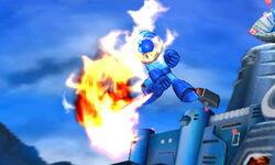 Ataque aéreo hacia adelante de Mega Man SSB4 (3DS)