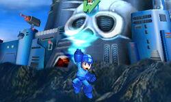 Ataque aéreo hacia arriba de Mega Man SSB4 (3DS)