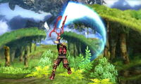 Ataque aéreo normal Shulk SSB4 (3DS)