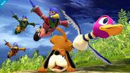 Falcos saltando sobre Duck Hunt SSB4 (Wii U)