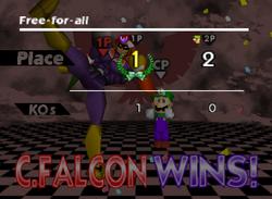 Pose de victoria de Captain Falcon (1-2) SSB