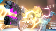 Samus Zero con su pistola (2) SSB4 (Wii U)