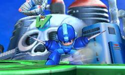 Ataque Smash hacia arriba de Mega Man (1) SSB4 (3DS)