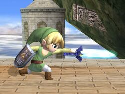 Ataque normal Toon Link SSBB (3)