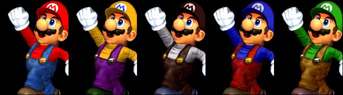 Paleta de colores Mario SSBM
