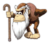Pegatina de Cranky Kong SSBB