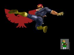 Pose de victoria Captain Falcon B (2) SSBM