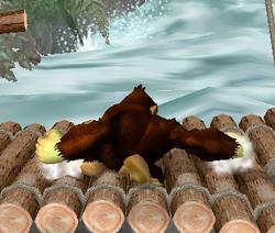 Ataque Smash hacia abajo de Donkey Kong (2) SSBM