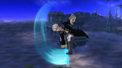 Ataque aéreo hacia abajo (2) Robin SSB4 (Wii U)