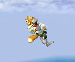 Ataque aéreo hacia abajo de Fox (1) SSBM