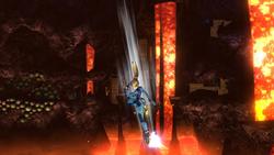 Ataque aéreo inferior de Samus Zero SSB4 (Wii U)