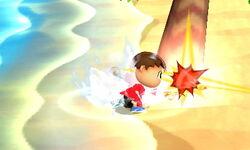 Ataque de recuperación boca abajo Aldeano (1) SSB4 (3DS)