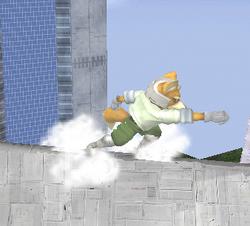 Ataque de recuperación de cara hacia arriba de Fox (1) SSBM