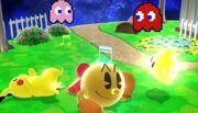 Burla hacia abajo Pac-Man SSB4 (Wii U)