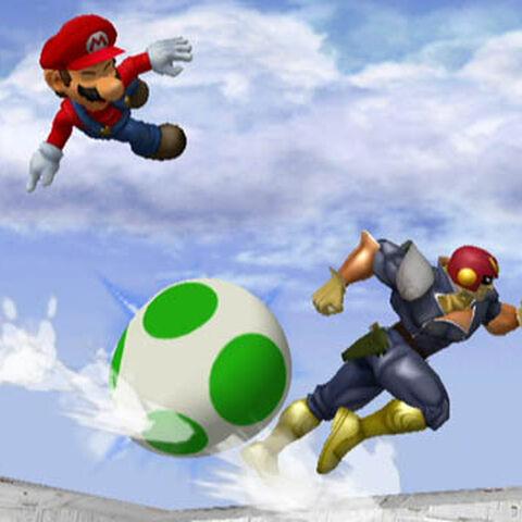 Huevo rodante en <i>Super Smash Bros. Melee</i>.